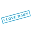 I Love Baby Rubber Stamp vector image vector image