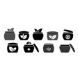 icons jars with natural cream vector image