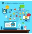 International Negotiations vector image vector image