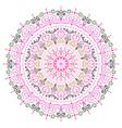 intricate mandala flower design element vector image