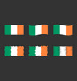 ireland flag set official colors and proportion vector image
