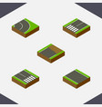isometric way set of pedestrian asphalt vector image vector image