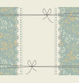 lace frame with beautiful bouquets vector image vector image