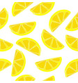 lemons seamless pattern slices of vector image vector image