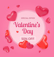 love sale banner valentines day discount poster vector image vector image