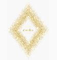 luxury gold glitter rhombus frame vector image vector image