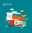 medicine help concept flat style design vector image