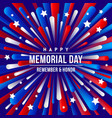 memorial day - greeting design vector image vector image