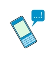 Mobile chatting flat icon vector image vector image