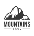 Mountain icon badge vector image vector image
