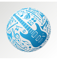 Music instruments in bauble shape vector image