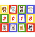 new year 2018 symbol dog vector image vector image
