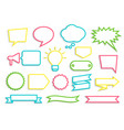 olorful contoured speech bubbles badges ribbons vector image
