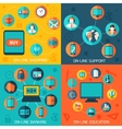 On-line services infographics background vector image