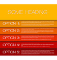 One two three four five - options background vector image vector image