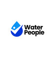 people water drop check logo icon vector image