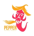 pink and orange of chili pepper logo vector image