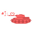 Pink tank of love Shot heart Peace military vector image vector image