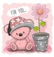 Pink Teddy Bear vector image vector image