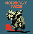 Retro poster motorcycle
