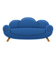 retro sofa icon cartoon style vector image vector image