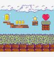 retro videogame scenery vector image vector image