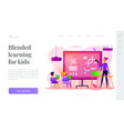 science lessons landing page template vector image vector image