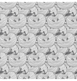 Seamless pattern of apples background vector image