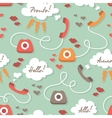 Seamless pattern with retro phones vector image vector image