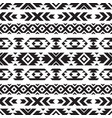 seamless tribal black and white pattern vector image vector image