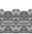 seamless vintage black lace border invitation card vector image vector image