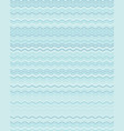 seamless wavy lines simple pattern vector image vector image