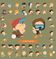 Set of 42 Sport characters vector image