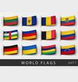 set of flag labels vector image vector image