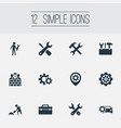 set of simple repairing icons elements toolkit vector image vector image