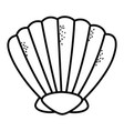 shell cartoon in black and white vector image
