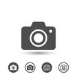 simple camera icons image vector image vector image
