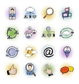 Social network comics icons set vector image vector image