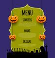 spooky halloween menu design vector image vector image