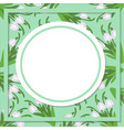 spring background with realistic snowdrops on a vector image vector image