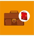 Suitcase red bag gift star design vector image