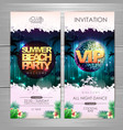 summer party poster design summer beach party vector image