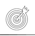 target with dart icon design vector image vector image