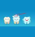teeth whitening tooth before and after cleaning vector image vector image