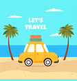 travel car summer vector image