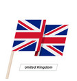 united kingdom ribbon waving flag isolated vector image