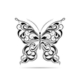 Vintage black pattern in a shape of a butterfly vector image vector image
