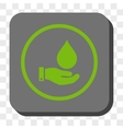 Water Service Rounded Square Button vector image