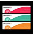 web banners templates horizontal web bann vector image vector image