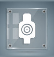 white human target sport for shooting icon vector image vector image